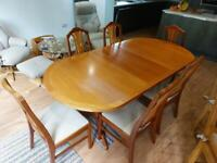 Teak extending Dining Table & Chairs