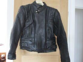 Black Mens Leather Akito Motorbike Jacket