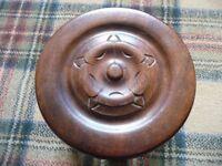 Decorate milking stool (stlye), yorkshire rose design, carved wood