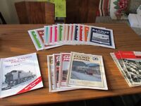 Vintage Railway magazines. Various titles dating from 1950s to 1990s. Good condition.