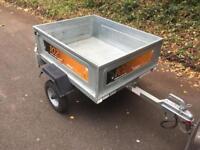Erde 102 Galvanised car trailer with lock trailor metal box