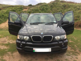 BMW X5 Sport 3.0 Sport Petrol Year 2003 millege 138000 private plate