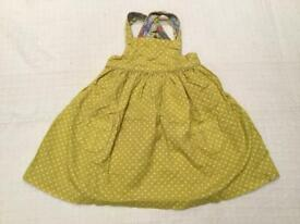 Baby Boden needle cord pinafore