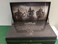 FOR HONOR Collectors Edition 3 Metal Helmets Knights Vikings Samurai NO GAME
