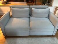 Two seat Ikea Vallentuna sofa with storage