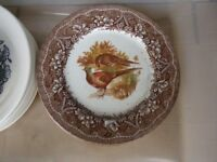 4 Pheasant plates for table use or display