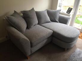 DFS Eliana pillow back 3 seater grey sofa like new