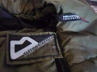Mountain Equipment mummy sleeping bag