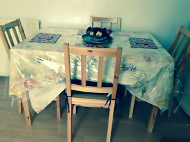 Dining table with 4 chairs ****REDUCED***