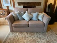 DOUBLE Sofa Bed - Beige Soft Finish