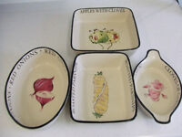 Matching set of ceramic dishes. Excellent condition. No chips on them. For sale in Keyworth.