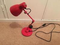 Modern Vintage Style Red Desk Lamp