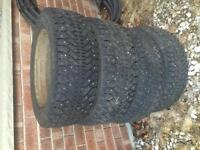 4 good year winter force studded tires