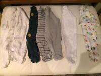 Newborn neutral babygrow bundle