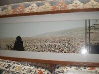 LARGE ISLE OF WIGHT POP FESTIVAL 1970 PRINT 4 FOOT LONG COLOUR LTD EDITION GLASSED