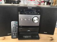 SONY compact Stereo with DAB Radio /MP3 Dock / CD Player