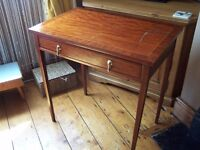 Edwardian Style Mahogany Side Table with Drawer Project Shabby Chic