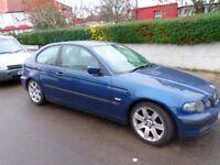 2002 02 BMW e46 SE Compact 5 speed petrol.