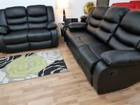 3+2 LEATHER RECLINER SOFA SET