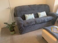 Three seater sofa with two arm chairs - retro vintage style