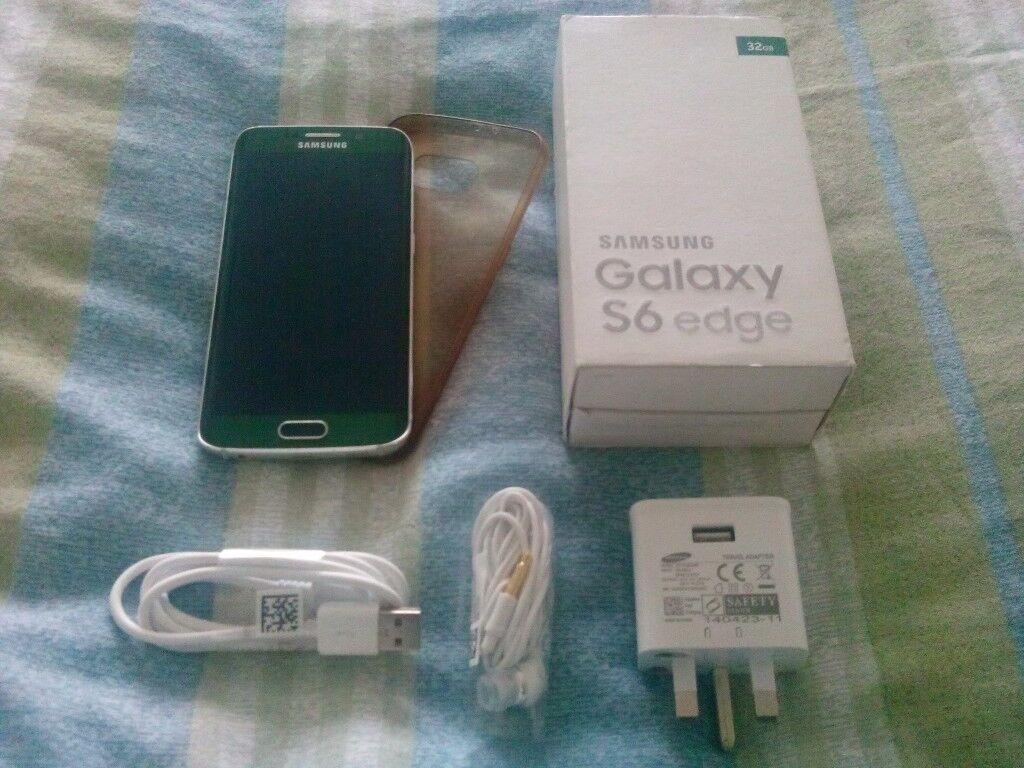 Samsung Galaxy s6 Edge sm-g925f 64gb Emerald Green Mobile Phone (ee)