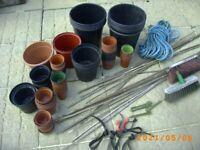 gardening accessories pots canes ties Bristol (Oldland Common)