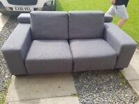 Grey 3&2 seater sofa