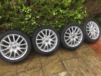 "5x112 golf Audi seat Skoda alloys 17"" all tyres 5+mm"