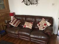 3 seater leather recliner (Motor Driven)