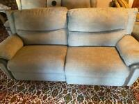 3 seater sofa and 2 seater recliner with Bluetooth speakers
