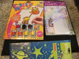 Embroidery by nos , writing set & toy story stencil all new