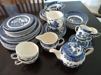 Johnson's willow patterned china