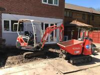 Mini digger hire , covering bolton & the north west