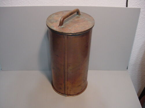 Rare Antique Copper Ships Flare Container Waterproof w/Flares