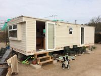 Static Caravan, 2 Bedrooms, Good Condition, Ideal for house Build