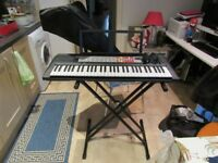 Yamaha Keyboard f50 + tiger keyboard stand + cover