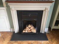 Cast iron fire insert