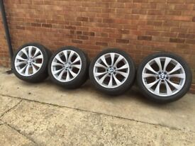 OEM BMW X5 M SPORT 20 INCH WHEELS ALLOYS ,X6,X3,E53, E70,TYRES, 227. NO CRACKS FULLY REFERBED