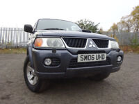 06 MITSUBISHI SHOGUN SPORT 2.5 SPORT 4X4,MOT SEPT 018,3 OWNERS FROM NEW,PART HISTORY,LOVELY EXAMPLE