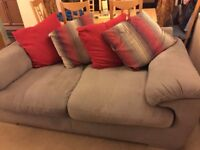 2 seater sofa and swivel cuddle chair