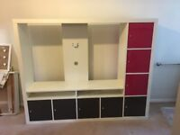 Ikea TV stand and storage unit with high gloss doors