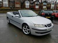 2005 SAAB 9-3 CONVERTIBLE 1.8T VECTOR SPORT SILVER F.S.H CABRIOLET FULL LEATHERS
