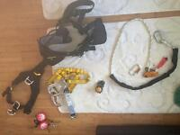 Petzl harness with accessories for sale