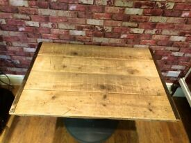 BESPOKE RUSTIC HANDMADE TABLE - TOP COMES OFF FOR TRANSPORTING - FREE DELIVERY WITHIN 3 MILES
