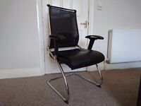 Armchair Eliza Tinsley Trident-C TCM/B403/BK Contemporary Executive Black Shell Visitors Chair