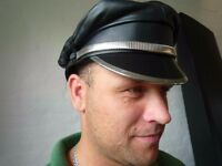 Leather Biker Hat by Mr Hat - Superb quality Last One!