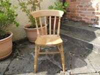 five pine kitchen chairs now surplus to requirements. All in a good condition.