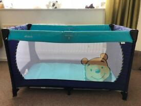 Travel cot with bag