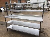 Commercial Stainless Steel Table with Gantry