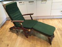 B&Q Hardwood Steamer Chair and Cushions